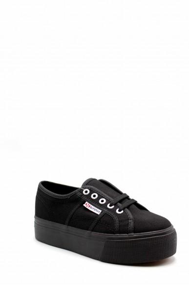 Superga Sneakers F.gomma S0001l0 Donna Nero Sportivo