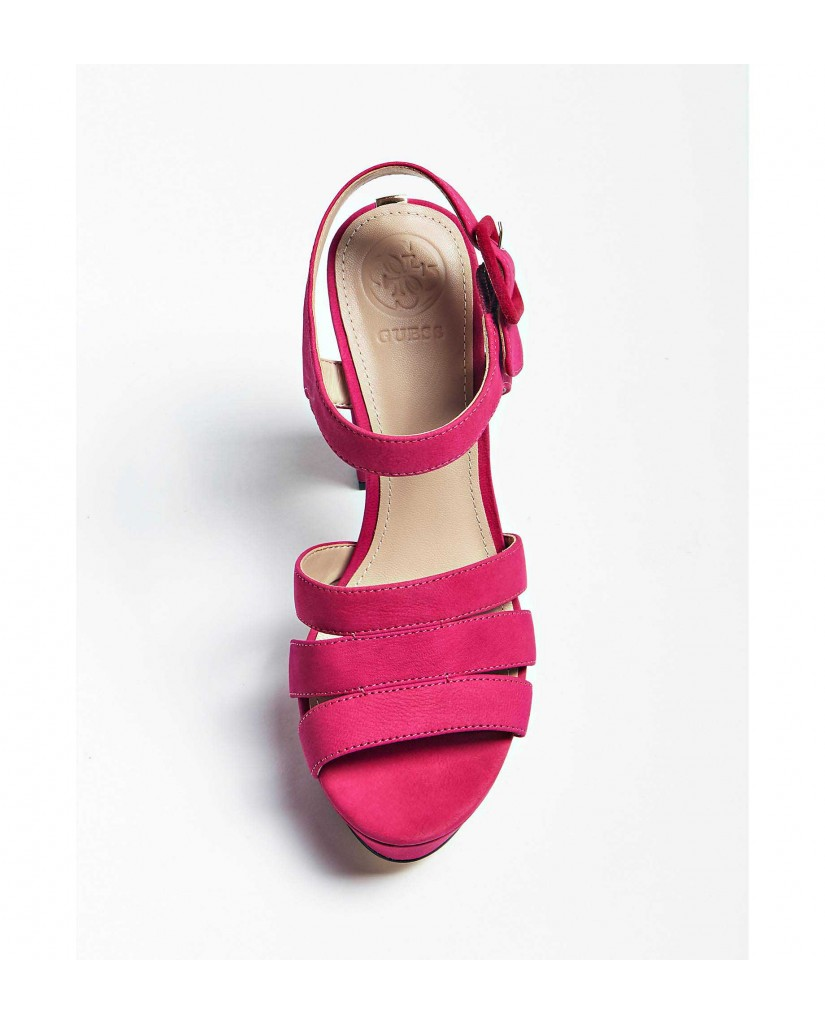 Guess Sandali   Lylah sandalo (sandal) nubuck Donna Rosa Fashion