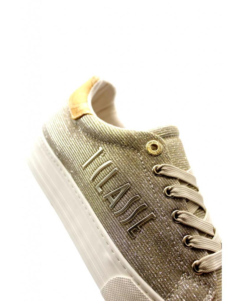 1^classe  Sneakers F.gomma Scarpa Donna Platino Fashion