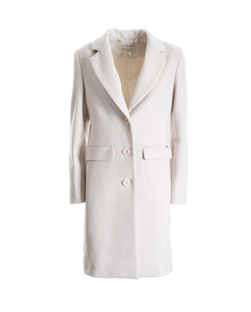 Fracomina Cappotti   733 classic coat butter Donna Bianco Fashion