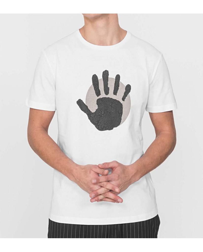 Antony morato T-shirt   T-shirt regular con stampa imp Uomo Bianco Fashion