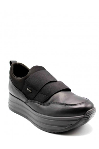 Igieco Slip-on F.gomma Nappa so/lycra Donna Nero Casual