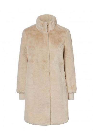 Vero moda Giubbotti   Vmvallialma 3/4 faux fur jacket Donna Beige Fashion