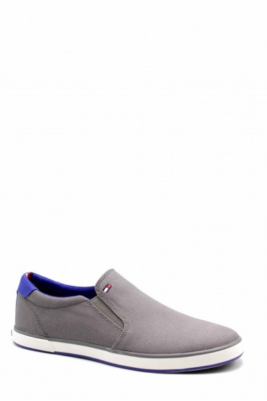 Tommy hilfiger Slip-on F.gomma Iconic slip on sneaker Uomo Grigio Fashion