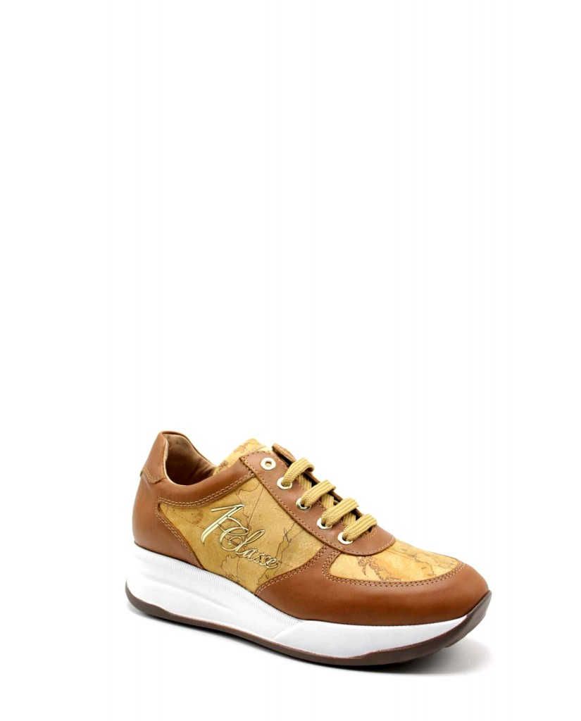 1^classe  Sneakers F.gomma Sneakers n0425 Donna Cuoio Fashion