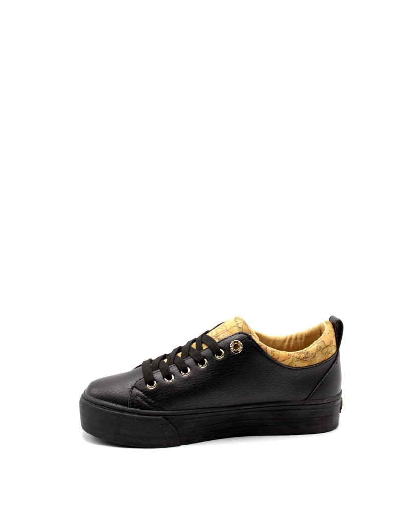 1^classe  Sneakers F.gomma Sneakers n0362 Donna Nero Fashion