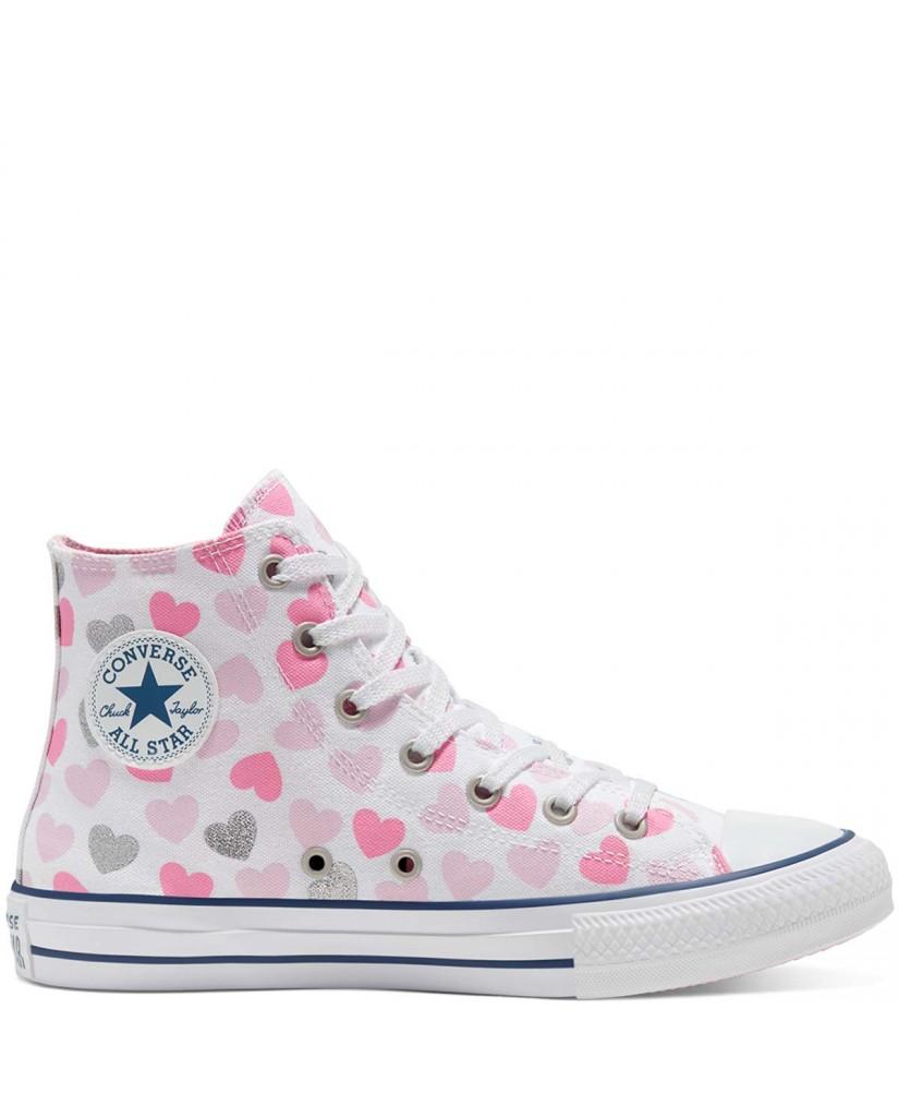 Converse Sneakers F.gomma Chuck taylor all star Bambino Bianco Fashion