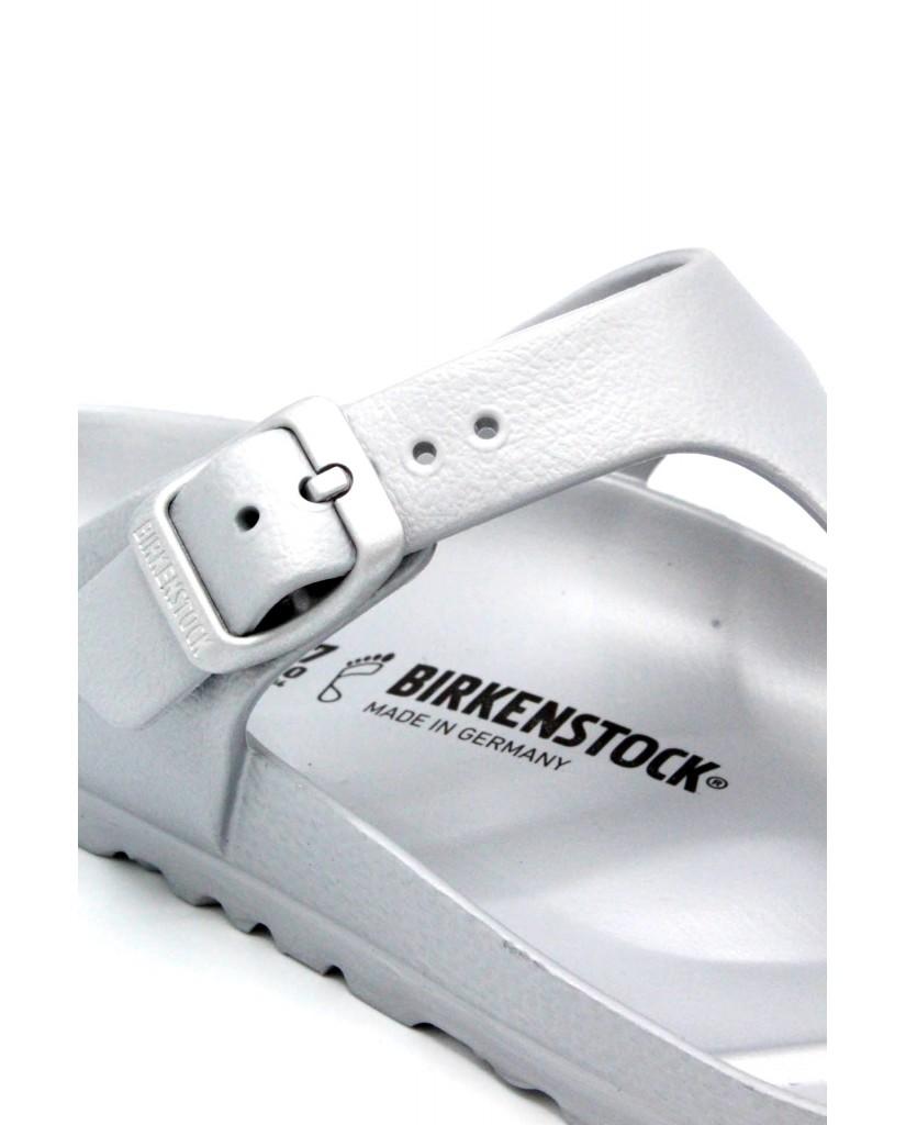 Birkenstock Infradito F.gomma 36/45 Unisex Argento Classico