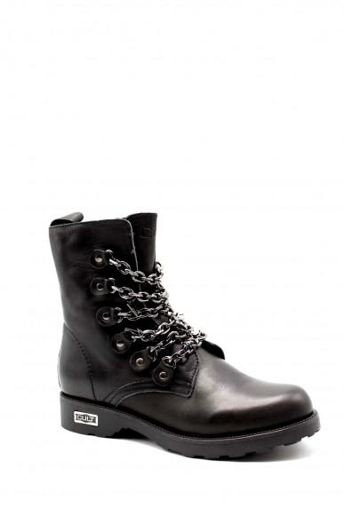 Cult Stivaletti   Zeppelin 2680 mid w leather black Donna Nero Fashion