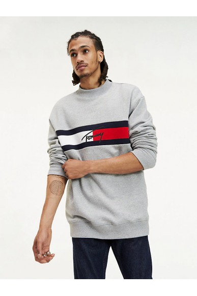 Tommy hilfiger Felpe   Tjm jacquard flag pa Uomo Grigio Fashion