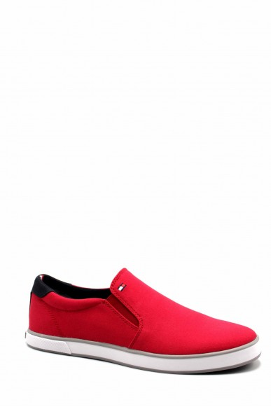 Tommy hilfiger Slip-on F.gomma Iconic slip on sneaker Uomo Rosso Fashion