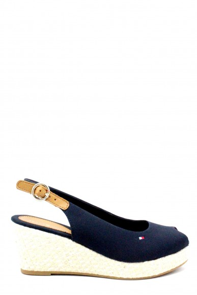 Tommy hilfiger Sandali F.gomma 36/41 iconic elba basic sling back ss18 Donna Blu Fashion
