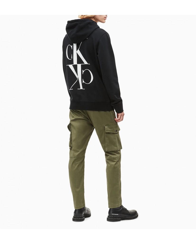 Calvin klein jeans Felpe   Back mirrored monogr Uomo Nero Fashion
