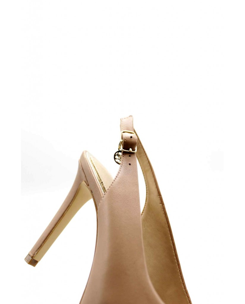 Guess Decollete F.gomma Eddi/sling back/leather Donna Rosa Fashion
