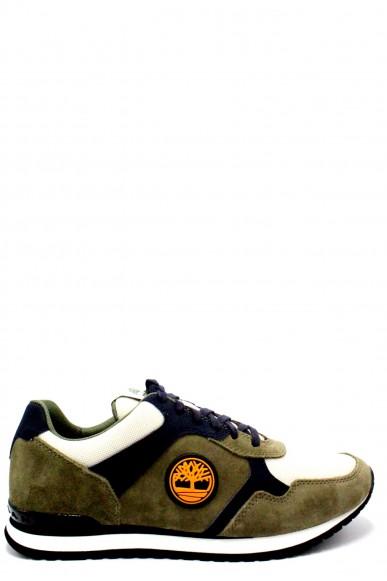 Timberland Sneakers F.gomma Retro runner ox deep lichen Uomo Verde Fashion