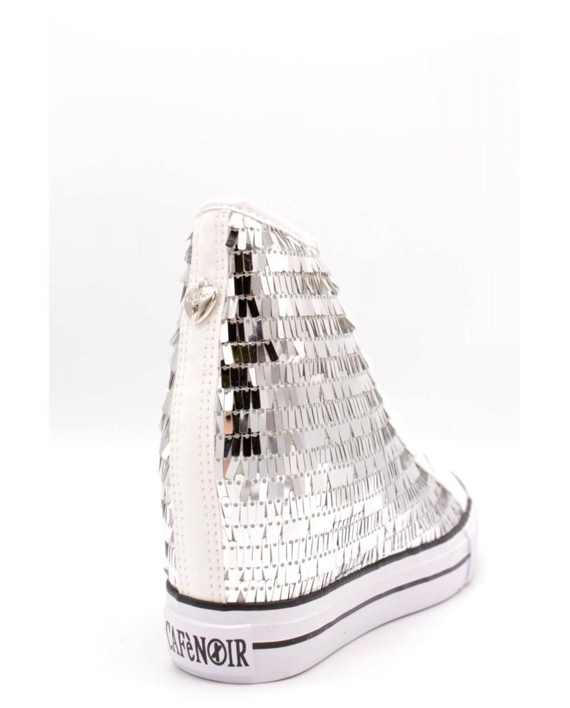 Cafe' noir Sneakers F.gomma 35/41 dg921 Donna Argento Fashion