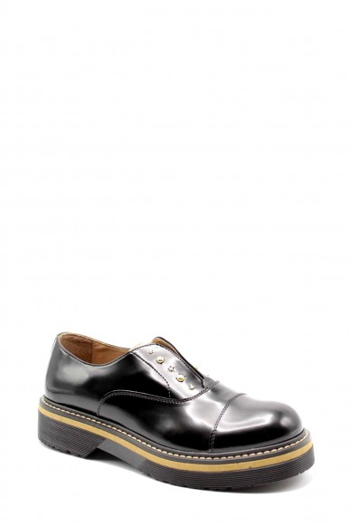 1^classe  Sneakers F.gomma Slipon n0444 Donna Nero Fashion