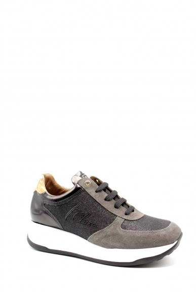 1^classe  Sneakers F.gomma Sneakers n0428 Donna Grigio Fashion