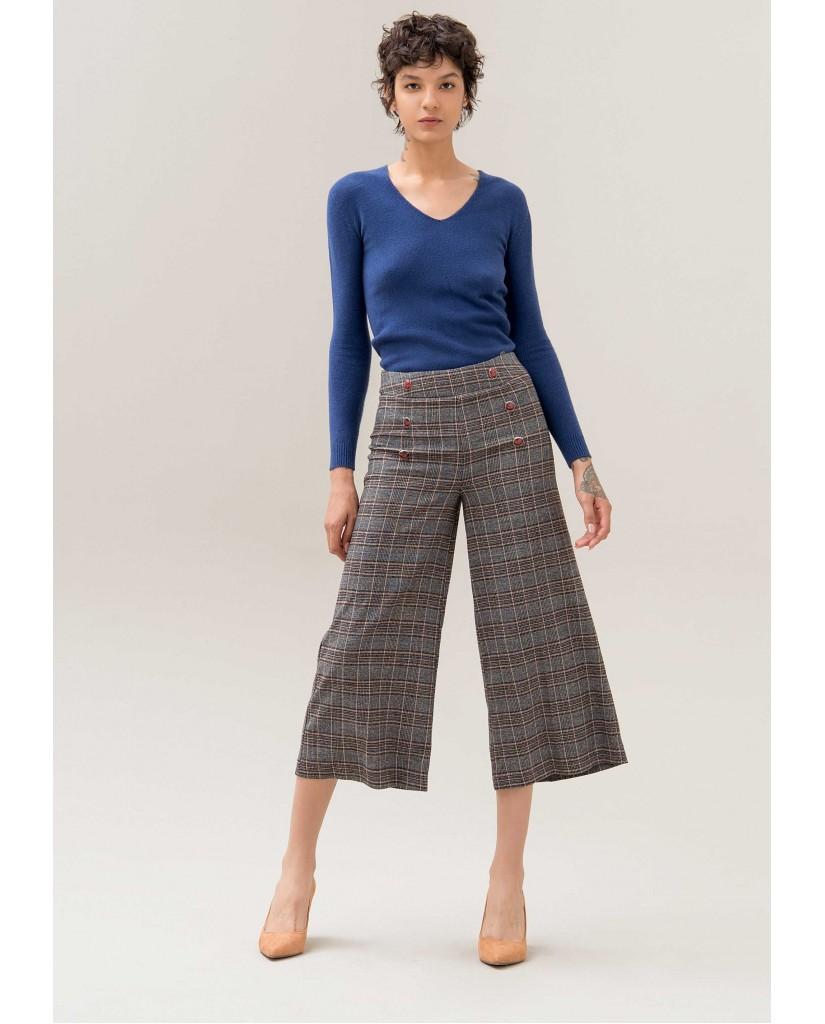 Fracomina Pantaloni   119 flare pant multicolor Donna Multicolor Fashion