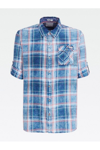 Guess Camicie   Sunset check treated Uomo Fantasia Fashion
