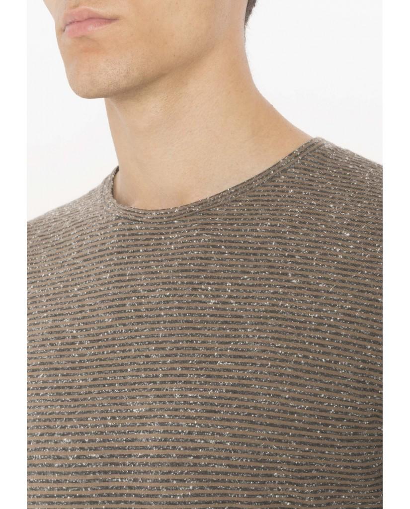 Antony morato T-shirt   T-shirt mezzamanica in tessuto Uomo Legno