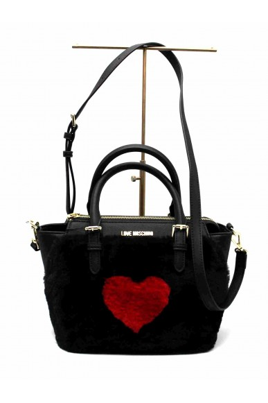 Moschino Borse   Shopper  pin grain  nero Donna Nero Fashion
