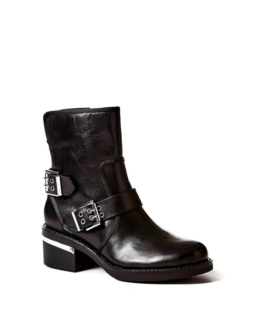 Guess Tronchetti F.gomma Figi/stivaletto (bootie)/leath Donna Nero Fashion
