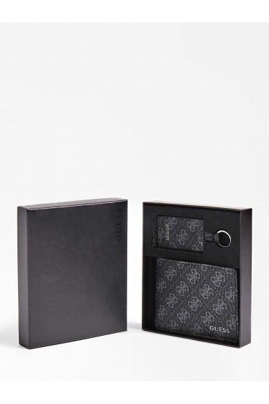 Guess Portafogli   City logo g.box keyring&wallet Uomo Nero Fashion