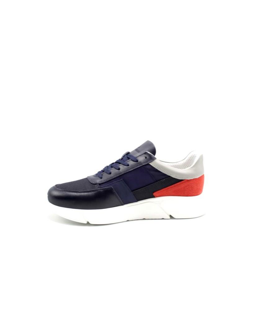 Harmont-blaine Sneakers F.gomma Scarpa uomo camoscio-tex fabric met Uomo Blu Fashion