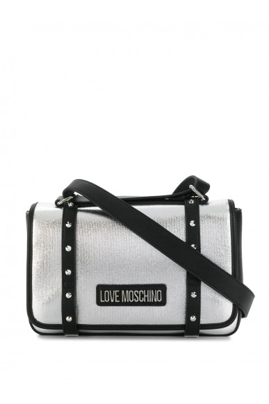 Moschino Tracolle   Borsa canvas+pu Donna Argento Fashion