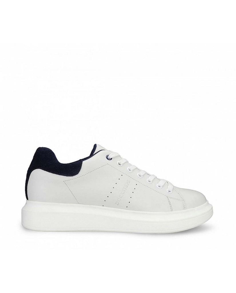Docksteps Sneakers F.gomma Tacoma low m 0081 leather/suede whi Uomo Blu Casual