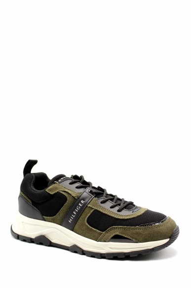 Tommy hilfiger Sneakers F.gomma Fashion mix sneaker Uomo Verde Fashion