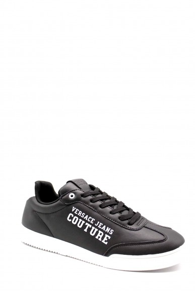 Versace couture Sneakers F.gomma Soft leather coated Uomo Nero Fashion