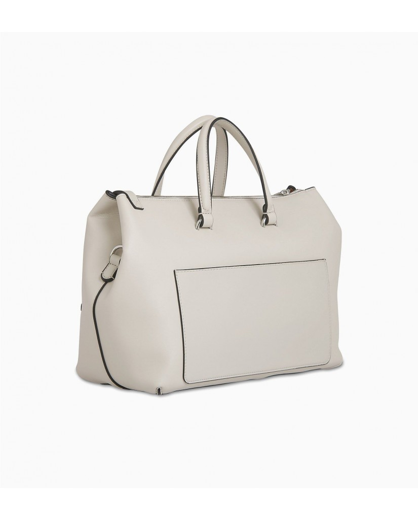 Calvin klein Borse   Ckj sculpted satchel Donna Bianco Fashion