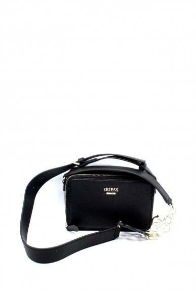 Guess Pochette - Dania mini crossbody top ziphwvg69 57700 Donna Nero Fashion