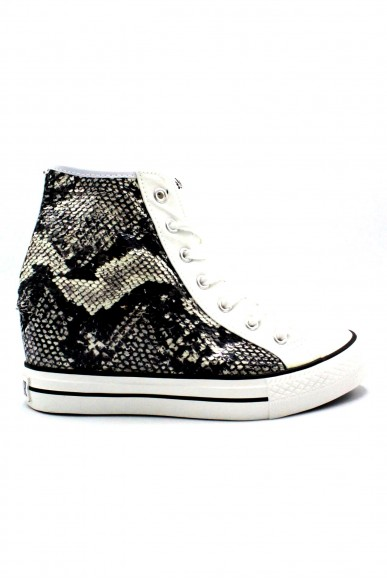 Cafe' noir Sneakers F.gomma 35/41zeppa interna Donna Bianco Fashion