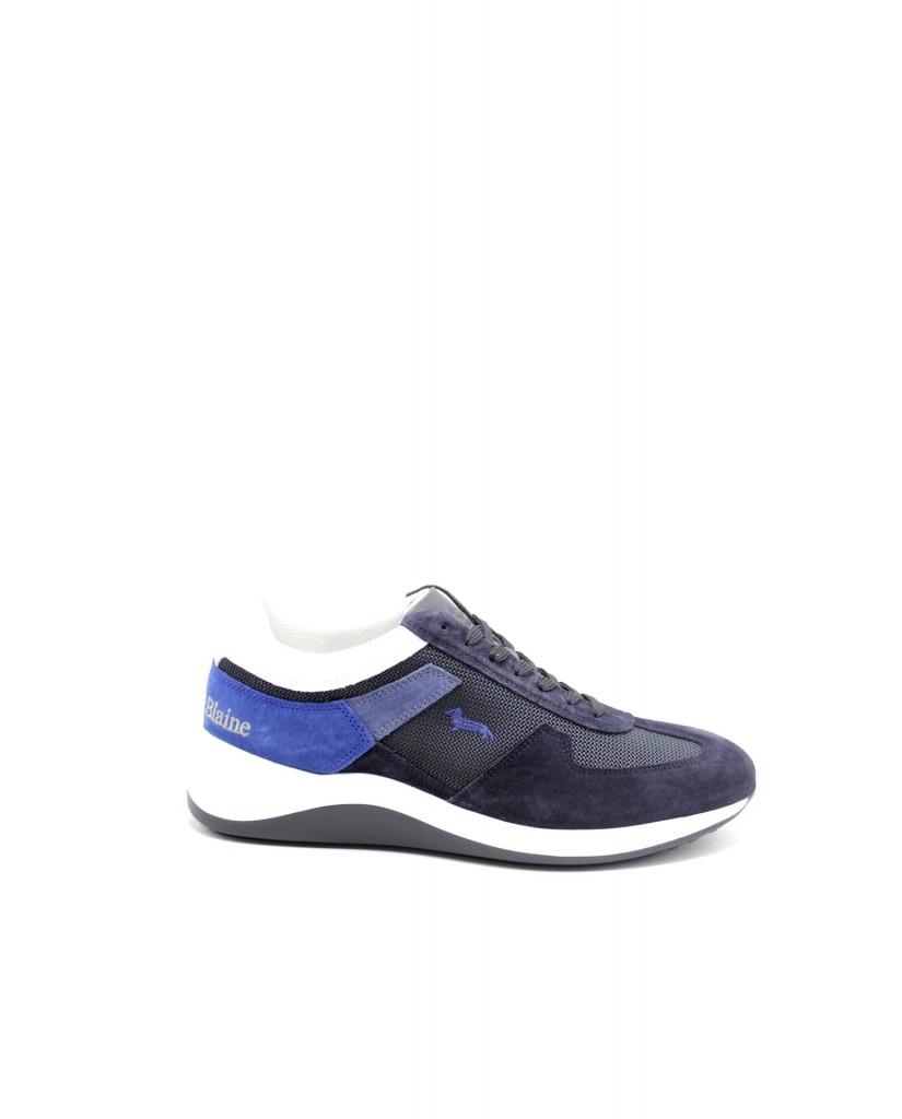 Harmont-blaine Sneakers F.gomma Scarpa uomo camoscio - tex fabric m Uomo Blu Fashion