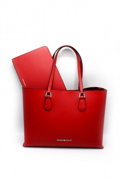 Emporio armani Borse - Shopping bag y3d085 yh19e orange Donna Rosso Fashion