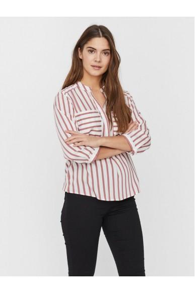 Vero moda Camicie   Vmerika stripe 3/4 shirt top e10 no Donna Bianco-rosso Fashion