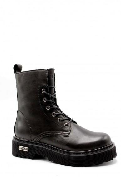 Cult Stivaletti   Slash 1814 mid w leather black Donna Nero Fashion