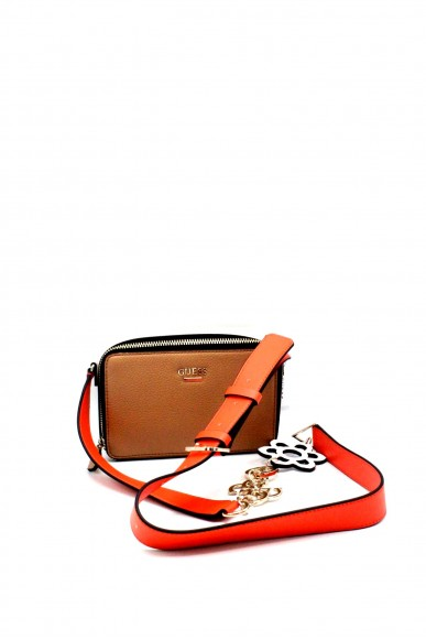 Guess Pochette - Dania mini crossbody top ziphwvg69 57700 Donna Tan Fashion