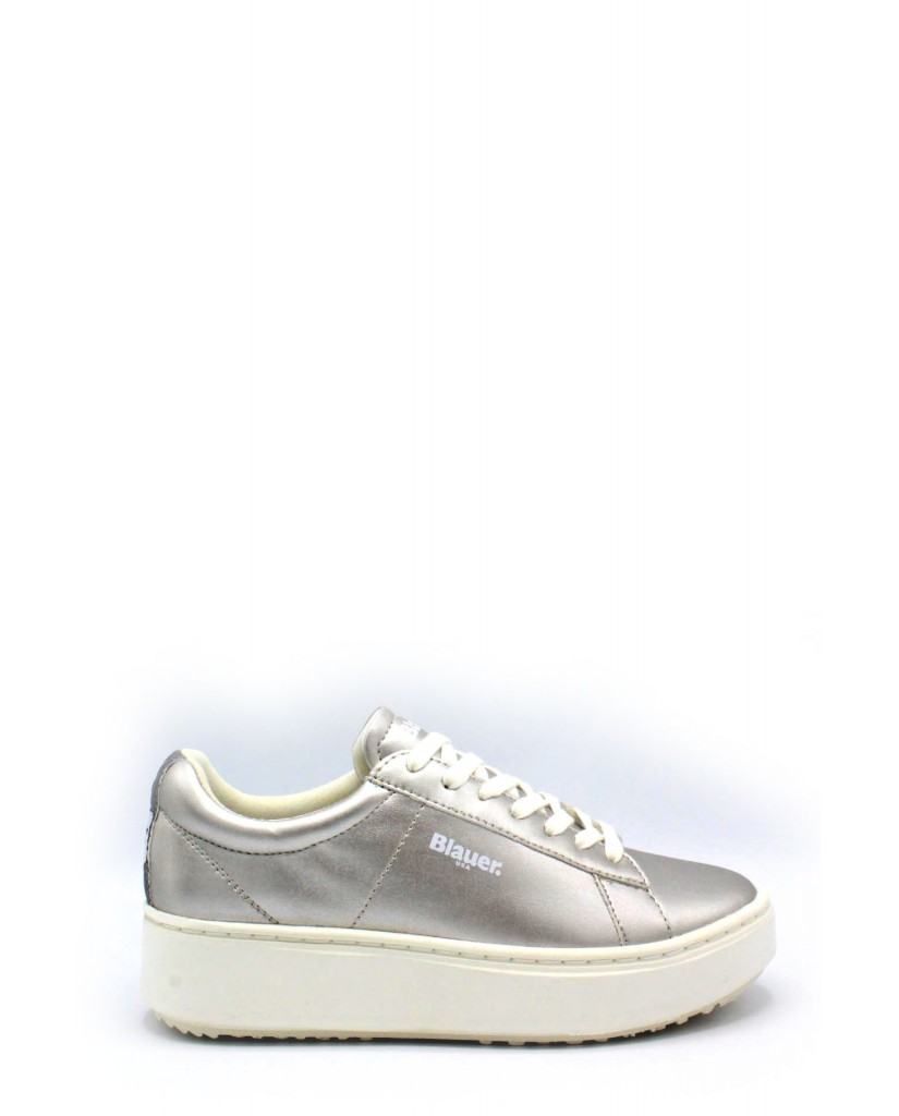 Blauer Sneakers   Donna Silver Fashion
