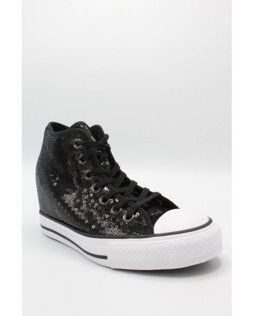 Converse Sneakers F.gomma 35/41 chuck taylors lux paillettes Donna Nero Sportivo