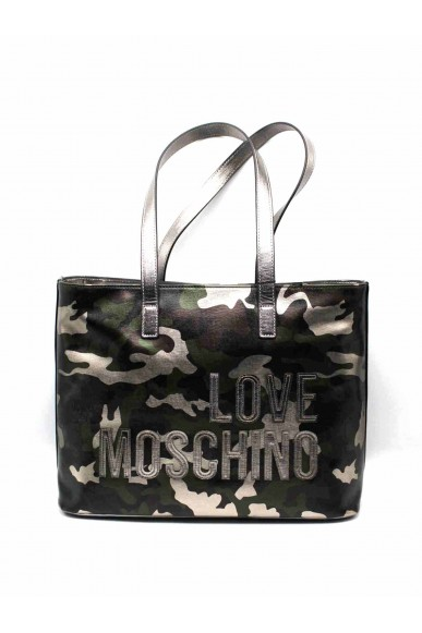 Moschino Borse   Borsa digital print nero Donna Militare Fashion