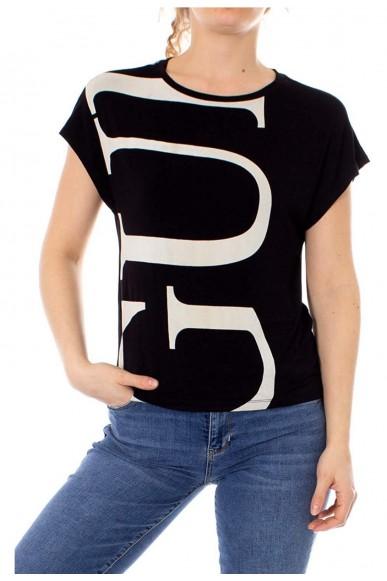 Guess T-shirt   Ss vn kimono tee Donna Nero Fashion