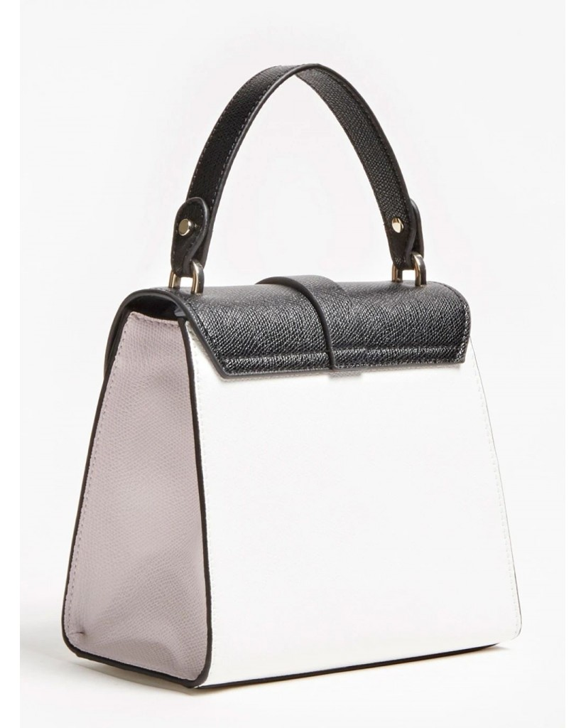 Guess Borse   Nerea top handle flap Donna Bianco Fashion