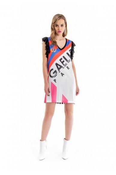 Gaelle paris Abiti   Abito g/c m/m stampa allover Donna Blu Fashion