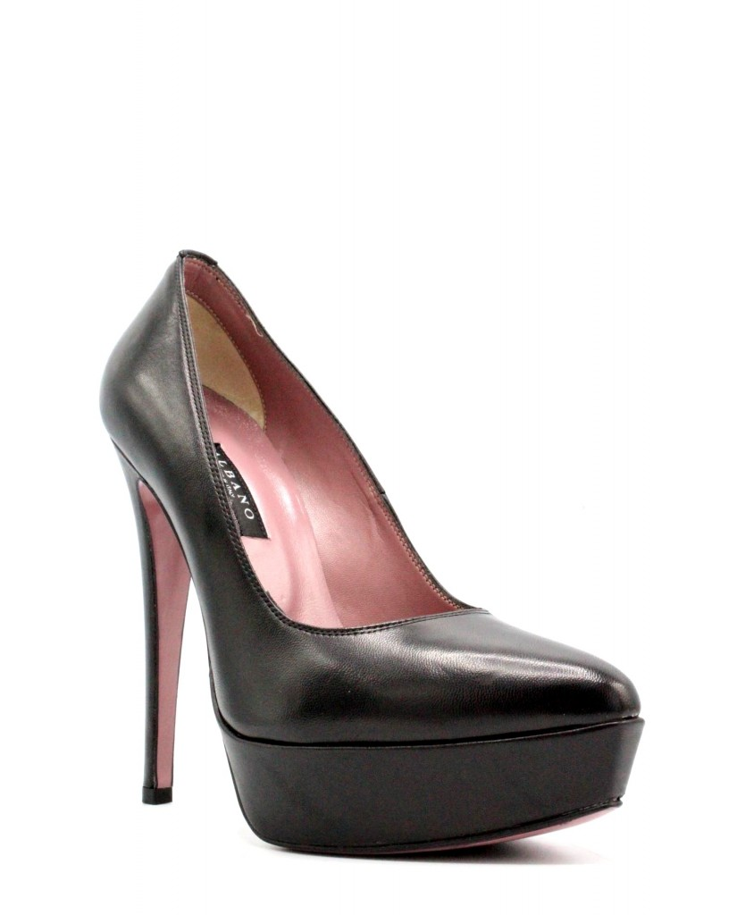 Albano Decollete F.gomma 35-40 Donna Nero Fashion