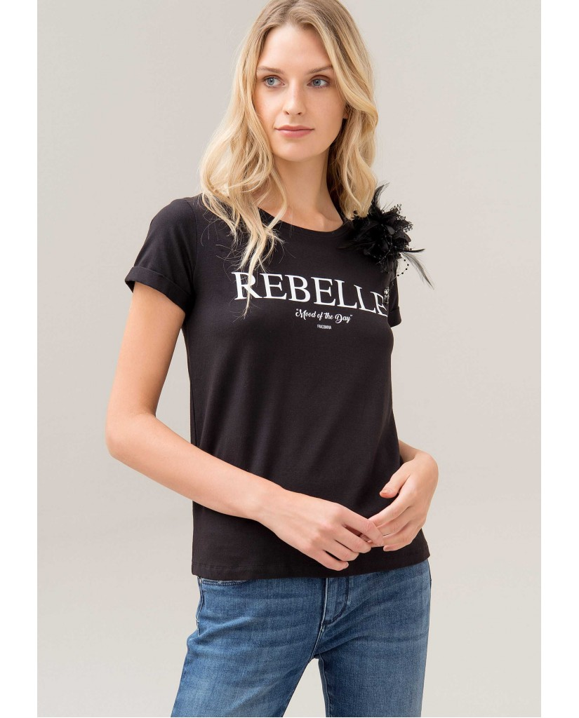 Fracomina T-shirt   352 t-shirt black Donna Nero Fashion