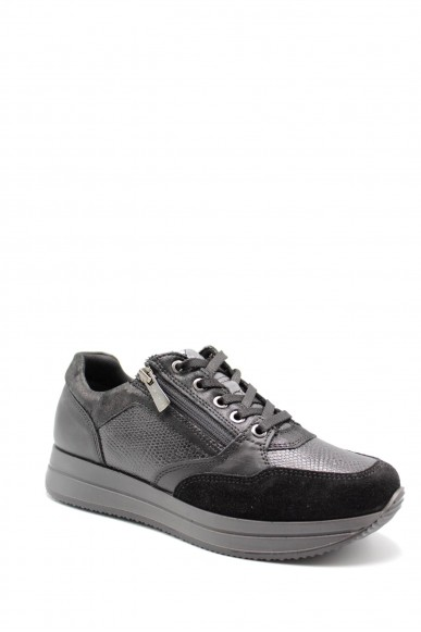 Igieco Sneakers F.gomma Dku 61650 Donna Nero Casual